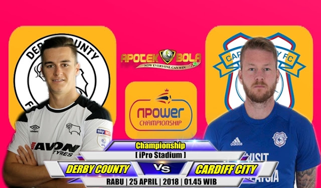 Prediksi Derby County vs Cardiff City 25 April 2018