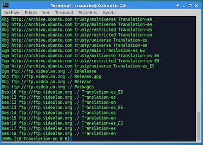Proceso repetitivo de Terminal
