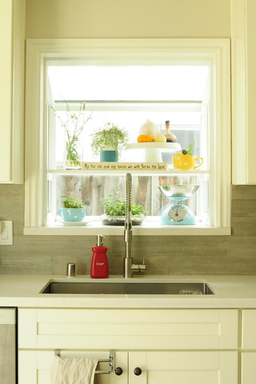 Kitchen window display ideas