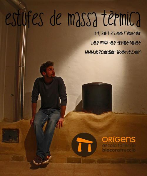 Curso de construcción de estufas de masa térmica en Cataluña, España