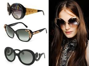Óculos da moda Rococó
