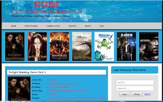 SURCE CODE FULL SCRIPT Untuk  membuat WEBSITE PEMESANAN TIKET BIOSKOP Silahkan SEDOT