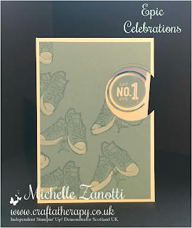 stampin' up! UK epic celebrations badges & banners layering circles framelits shoes teenager white chalk markers boy girl 1
