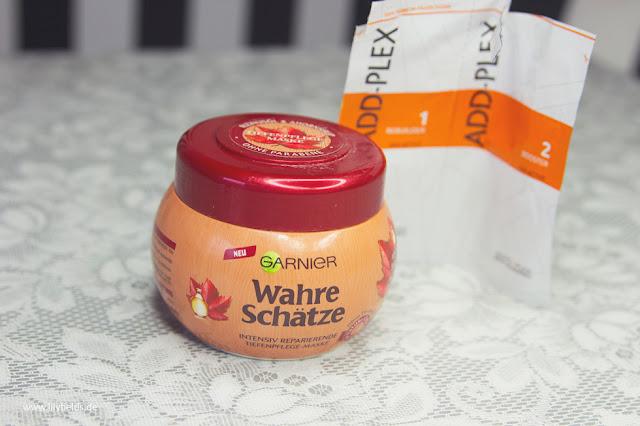 Garnier - Wahre Schätze - Tiefenfplege- Maske mit Ahorn Balsam und Rizinusöl