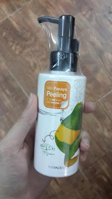 [REVIEW] Gel Tẩy Da Chết Chiết Xuất Đu Đủ The Face Shop Mild Papaya Peeling Wash