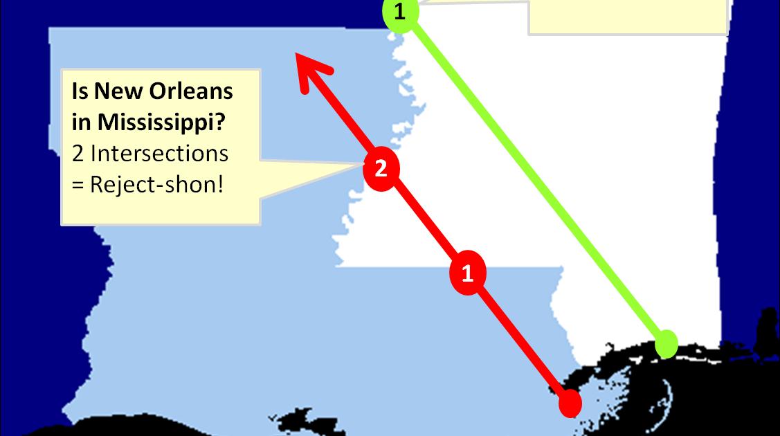 GeospatialPython com: Point in Polygon