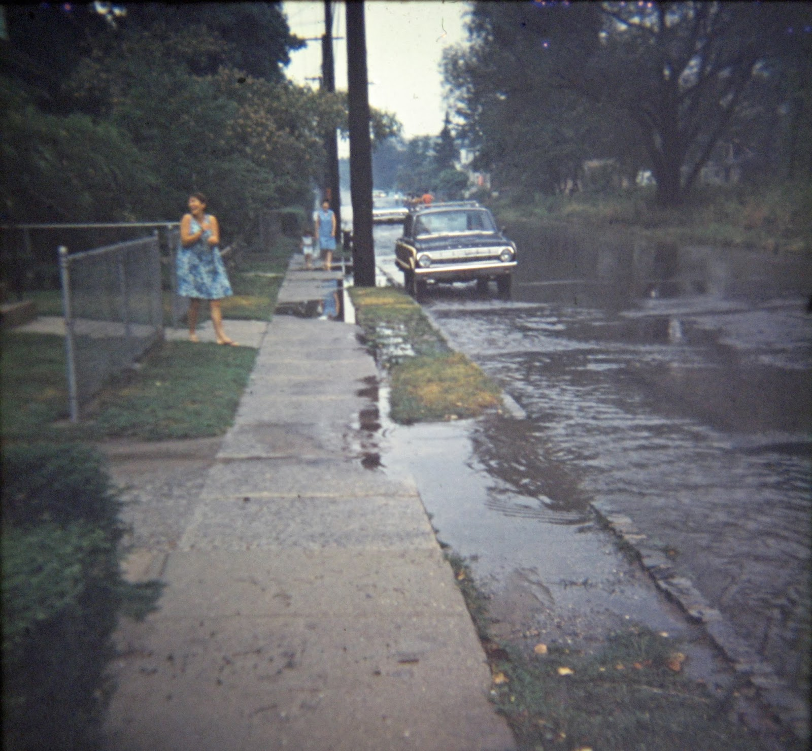 Simonson Ave flooded out August 1968.