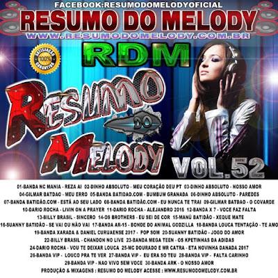 Cd Resumo do Melody vol.52