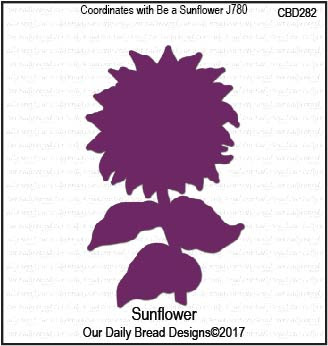 ODBD Custom Die: Sunflower