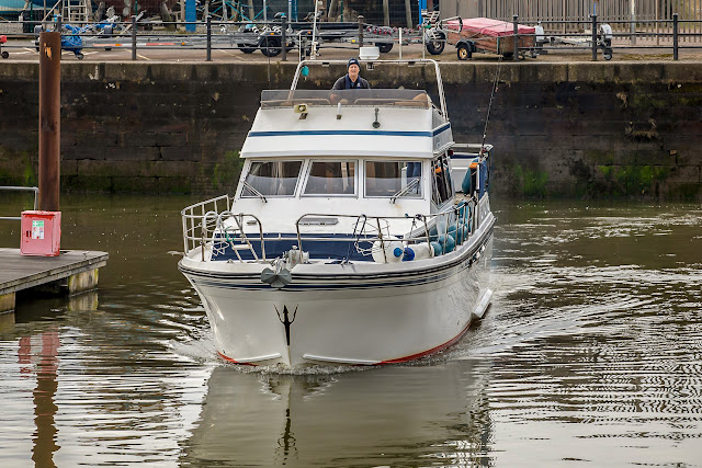Another photo of Ravensdale setting off from the marina on Tuesday morning by Glyn Jones