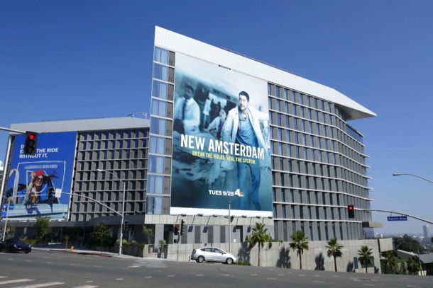 Giant New Amsterdam NBC billboard