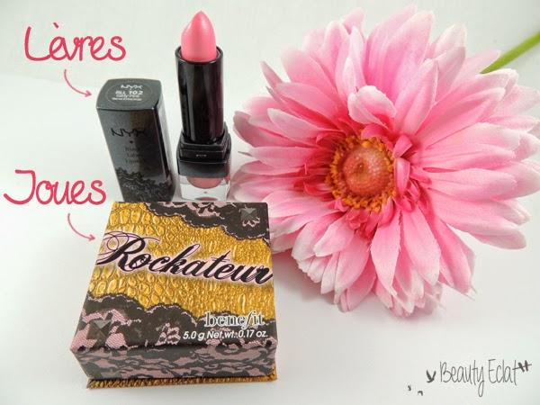 tutoriel maquillage rose violet double liner