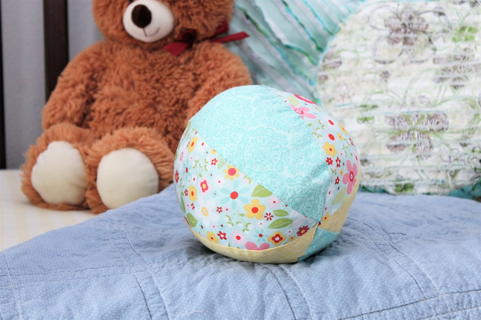 Fabric Ball Simple Handmade Baby Toys Gyct Designs