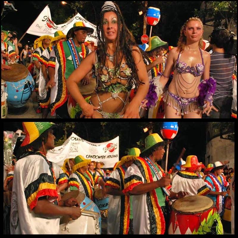 Carnaval. Desfile de Llamadas. Montevideo. Candombe Aduana. 2010.