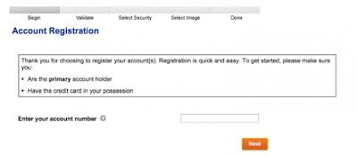 Walmart Credit Card Enroll page