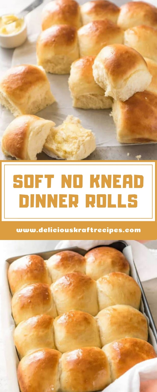 SOFT NO KNEAD DINNER ROLLS
