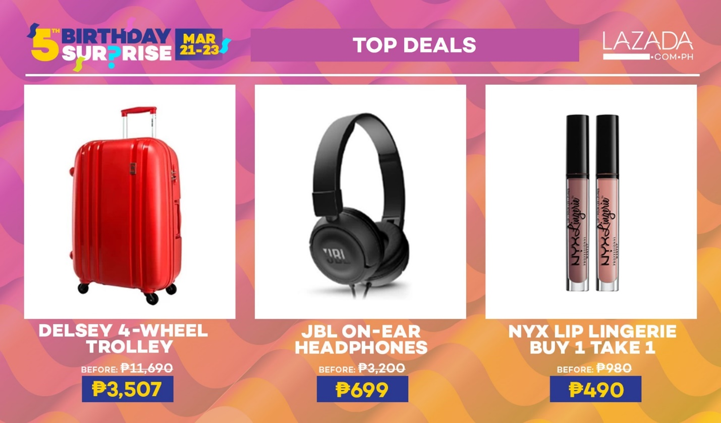 Lazada's 5th Birthday Surprise Top Deals