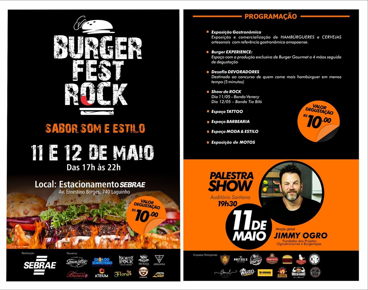 Burger Fest Rock Inova Festivais Gastron Micos No Amap Sebrae Amap