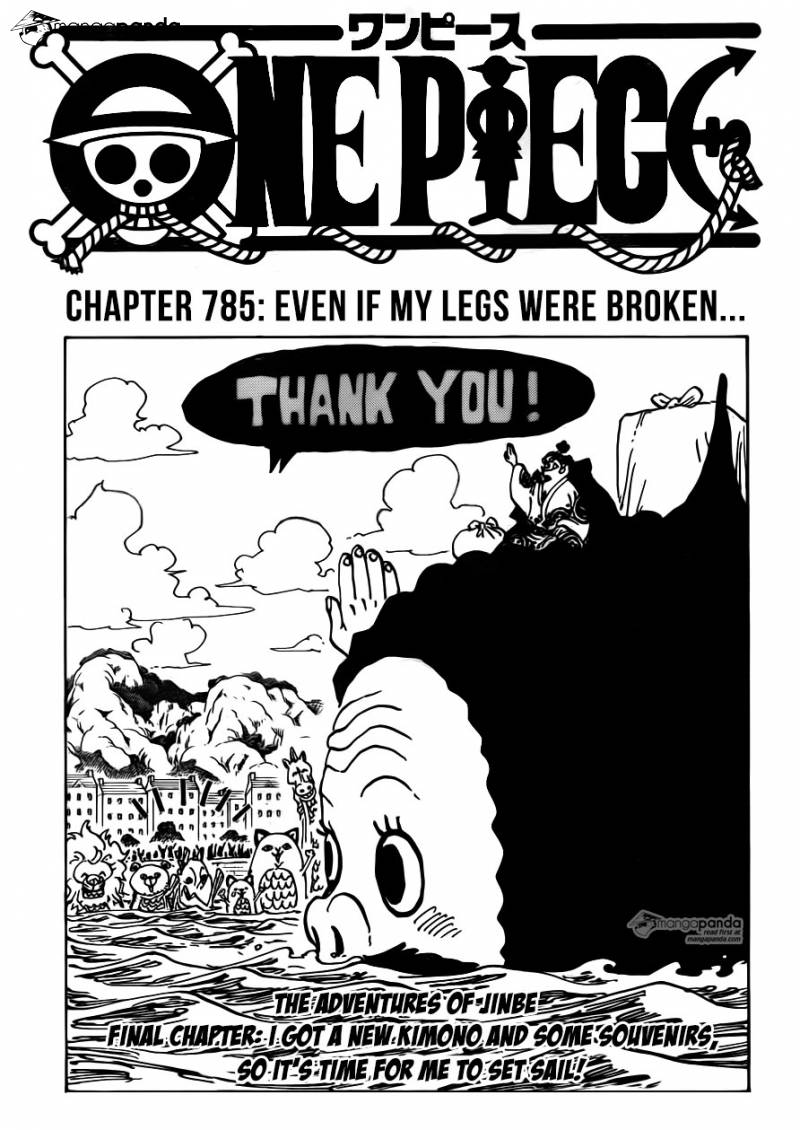 One Piece Ch 785: Even if my legs were broken...