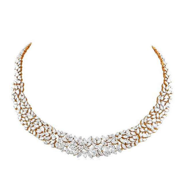 Regal mutli diamond necklace by VelvetCase.com- Rs. 9,32,089