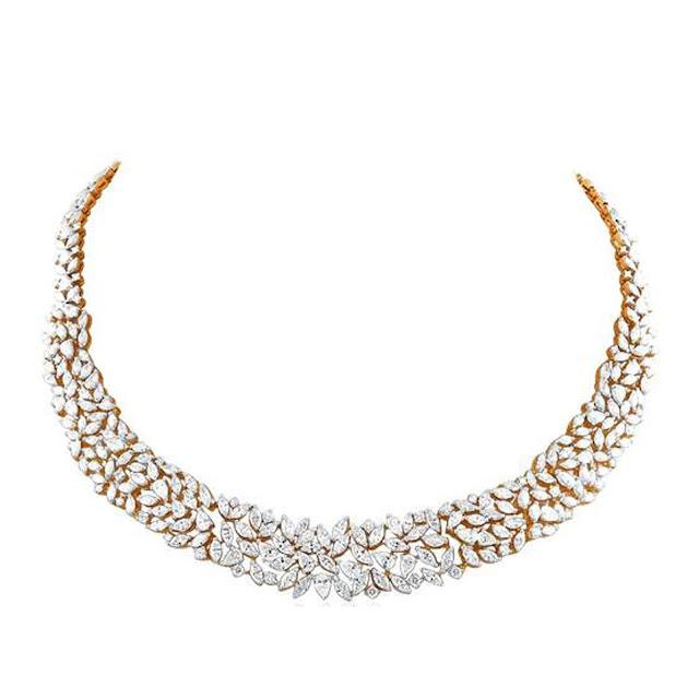Regal mutli diamond necklace by VelvetCase.com- Rs. 9,32,089