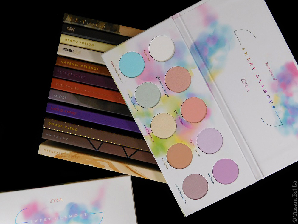 Zoeva - Sweet Glamour Eyeshadow Palette Swatches - Review - Avis et Revue
