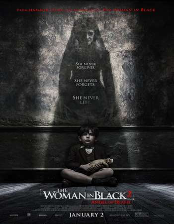Poster Of The Woman in Black 2: Angel of Death 2014 Full Movie In Hindi Dubbed Download HD 100MB English Movie For Mobiles 3gp Mp4 HEVC Watch Online