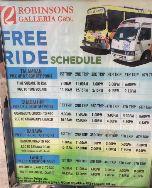 Robinsons Galleria Cebu to Lahug, Talamban, Banawa, Guadalupe