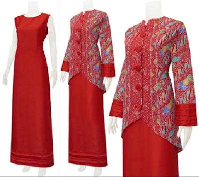 Baju kurung etnis motif batik