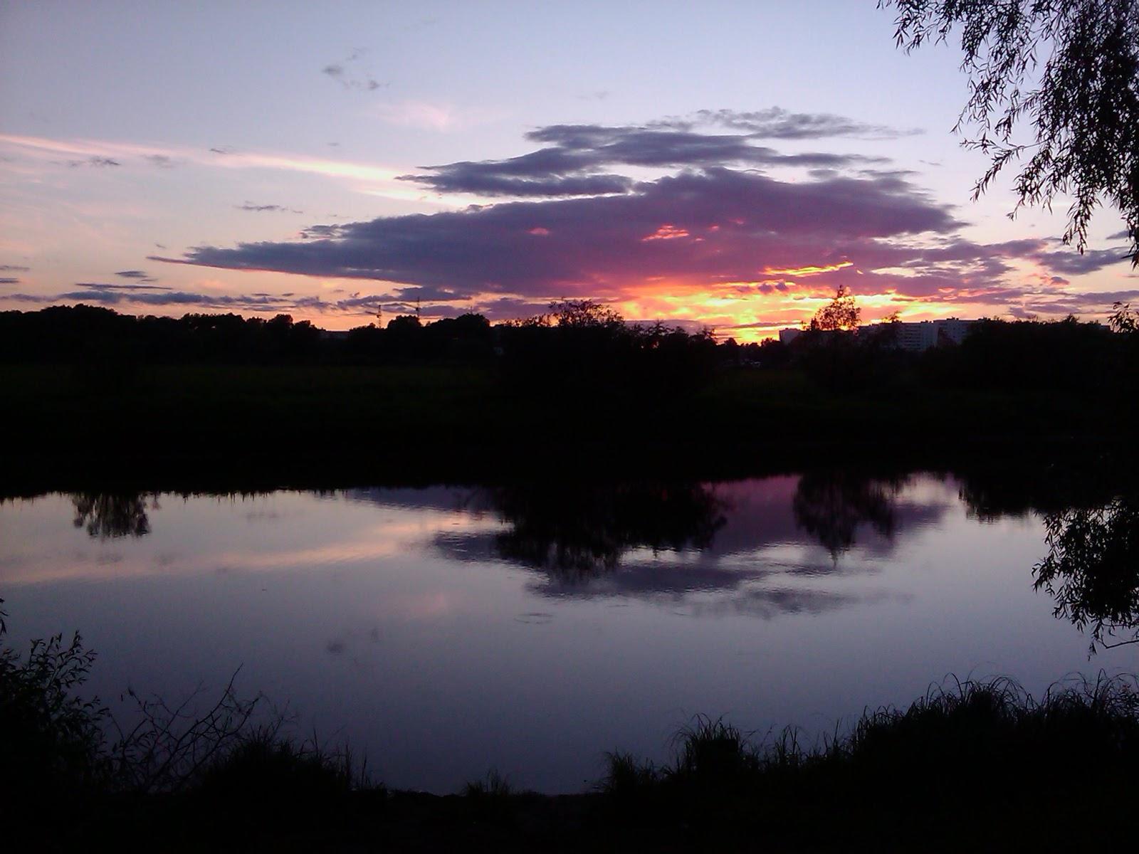Красивые краски вечернего заката