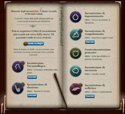Manuale degli incantesimi, Volume secondo al Club dei Duellanti