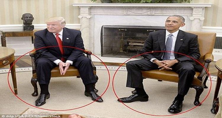 محللة في لغة الجسد تعلن عن مفاجاة مذهلة وقعت في أول لقاء بين أوباما و ترامب