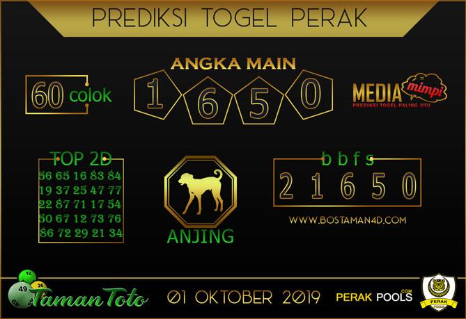 Prediksi Togel PERAK TAMAN TOTO 01 OKTOBER 2019