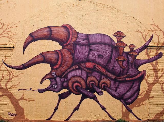 Street Art Mural By Sego For Board Dripper Urban Art Festival. 2