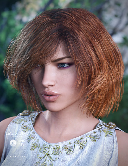 Cybele Hair for Genesis 3 Female