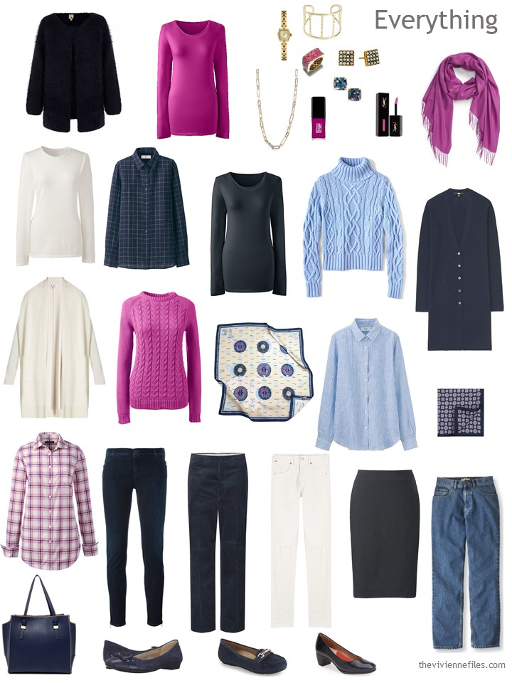 A Capsule Wardrobe In Navy Hot Pink And Ivory Expanding Your Accessories The Vivienne Files