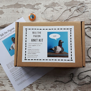 Pigeon knitting kit by Nicky Fijalkowska