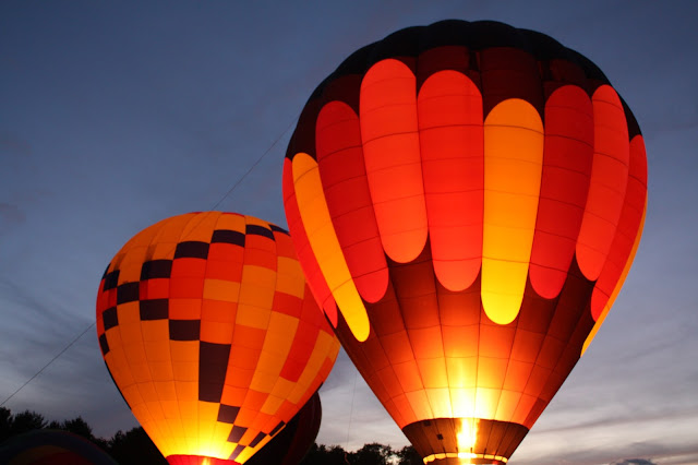 Evening balloon glow in Waterford, Wisconsin