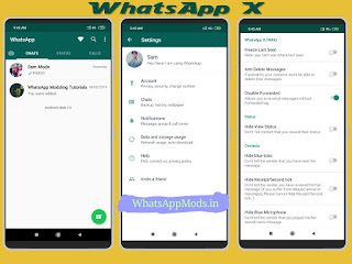 WhatsAppX v0.9B WhatsAppMods.in