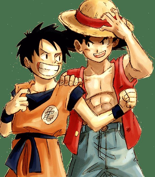 Render Luffy y Goku