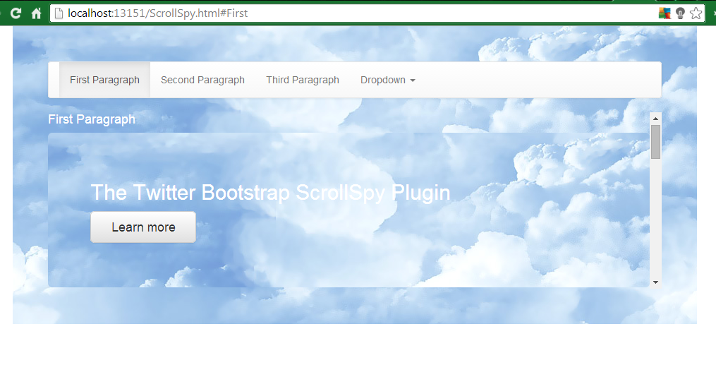 The ASP NET MVC Club: Step by step how to create an ScrollSpy NavBar
