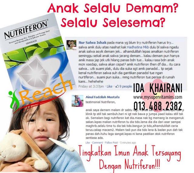 nutriferon shaklee untuk asma, hfmd