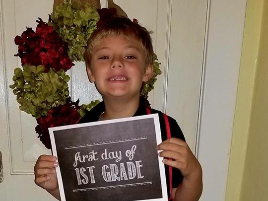 First Day of School 2017 #WordlessWednesday