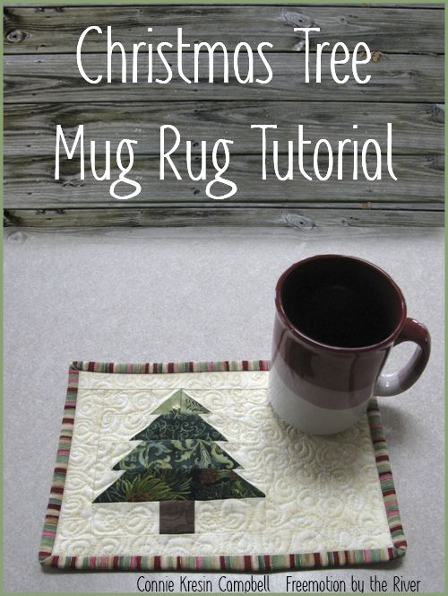 Fast and easy Chrstimas Tree Mug Rug Tutorial