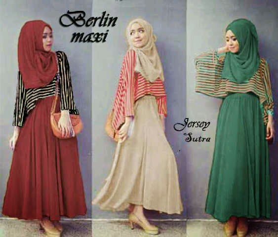 Bahan Maxy+pashmina JERSEY SUTRA ORI+outter Stripe Spdx SUPER(High Quality) Bwh Lebar Fit to XL Pjg ±142