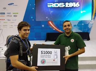 Kyle Morris winning 2nd place Humanoid Application challenge IROS 2016 Korea