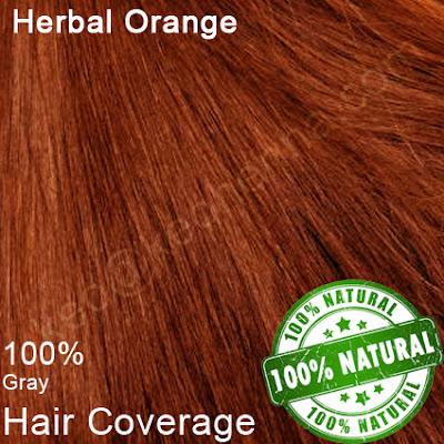 Herbal Orange hair dye