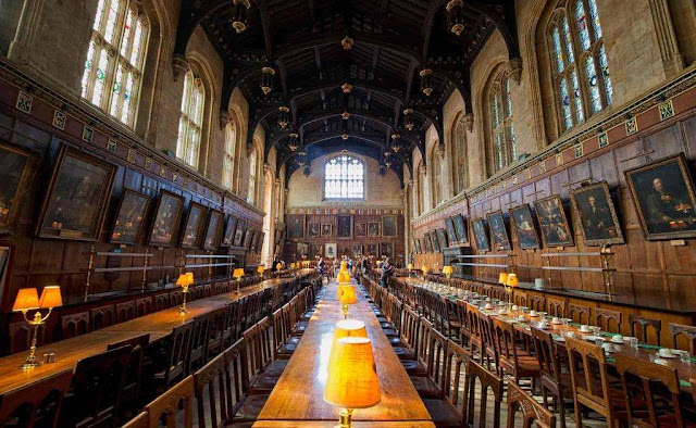 Cena en el Gran Comedor de Harry Potter
