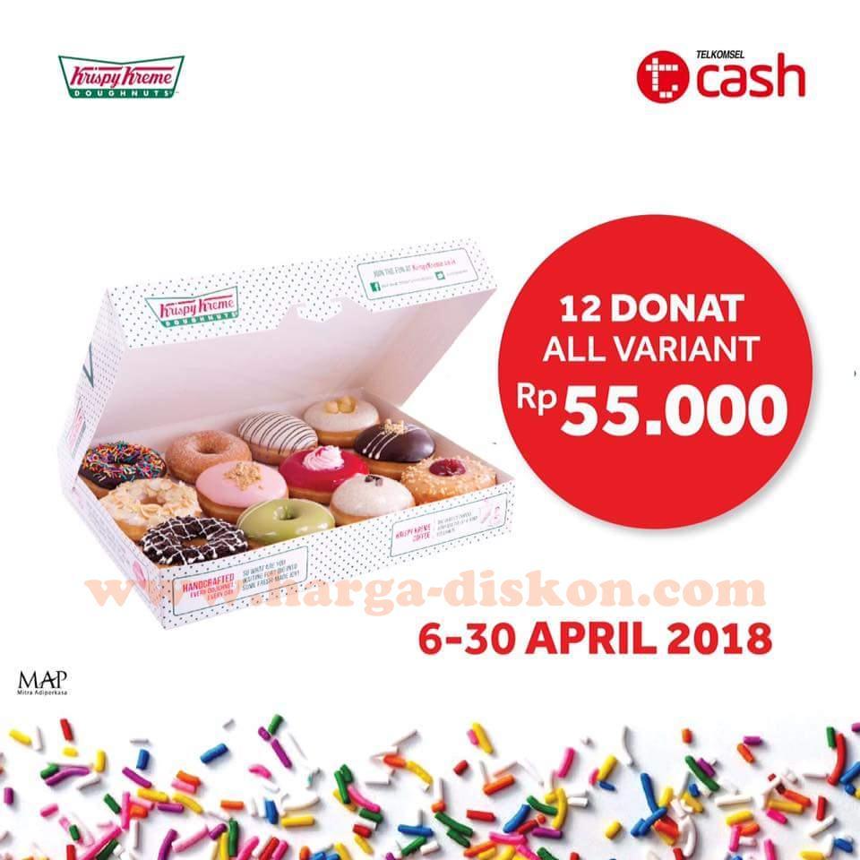 Promo KRISPY KREME Terbaru 12 Donut Rp55 000 dengan TCASH
