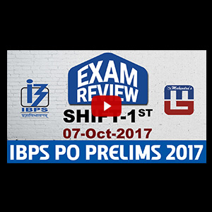 Exam Review With Cut Off | IBPS PO PRELIMS 2017 | 07 OCT -Ist Shift